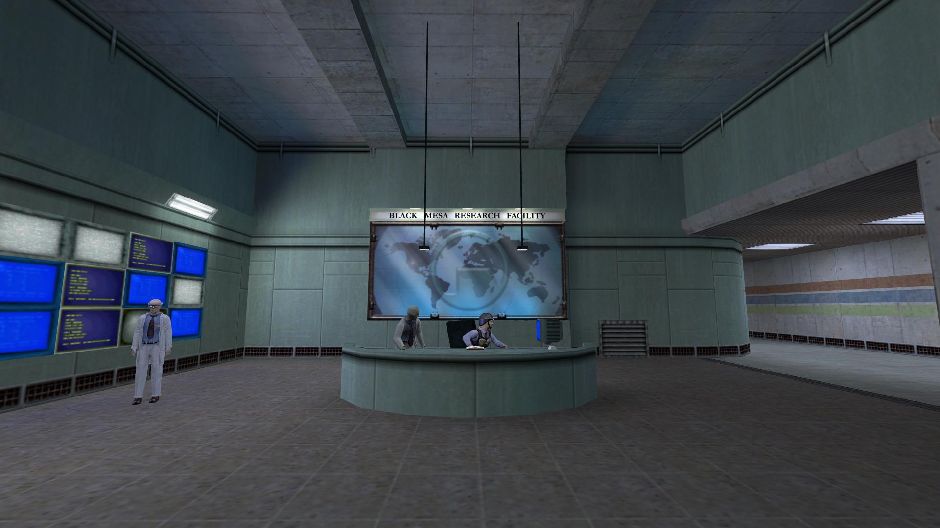 Black Mesa Research Facility lobby